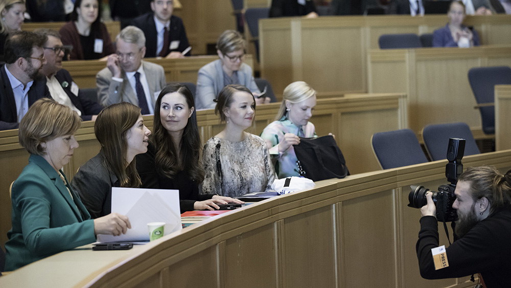 The members of the Finnish Government at its climate meeting
