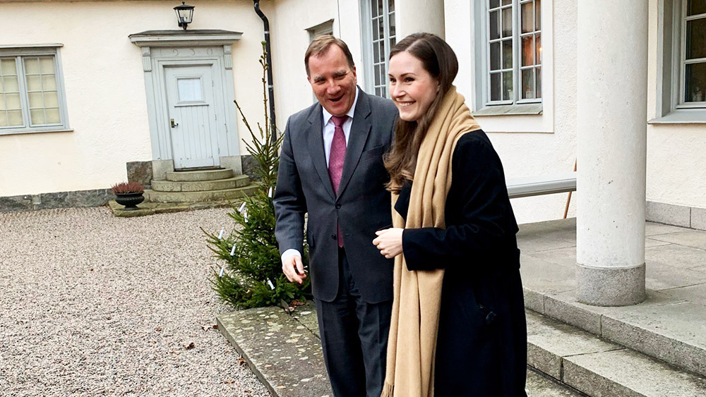 Prime Ministers Marin and Löfven meet in Harpsund, Sweden