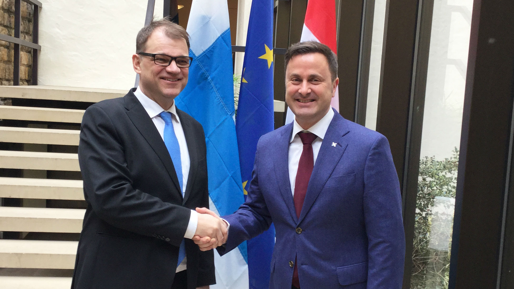 Prime Minister Sipilä held talks with Luxembourg Prime Minister Bettel